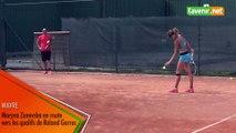 Maryna Zanevska en route vers les qualifs de Roland Garros