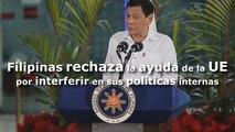 Filipinas rechaza la ayuda al desarrollo de la UE por interferir en sus políticas