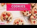 Cookies aux fraises et 3 chocolats | regal.fr