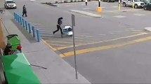 Une femme vole un caddie plein dans un supermarché mais se rate dans sa fuite