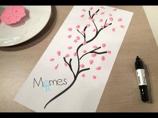 Les P'tits Bricolages de Momes.net : Peindre un cerisier en fleurs