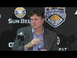 2017 Sun Belt Women's Basketball Champ: Women's Qtrs Press Conference Little Rock vs Appalachain Sta