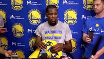 【NBA】Kevin Durant Practice Interview  Warriors vs Spurs  Game 3  May 18, 2017  NBA Playoffs