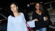 Alia Bhatt With Mother Soni Razdan Spotted at Mumbai Airport