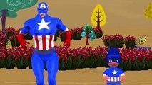 Captain America Johny Johny Yes Papa  Captain America Cartoons Johny Johny Yes Papa Nursery Rhymes