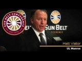 10/31 Sun Belt Football Media Teleconference: UL Monroe Head Coach Matt Viator