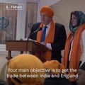 Boris Johnson is chastised by a Sikh woman for talking about selling alcohol in a temple.