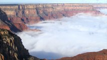 Incredible video shows cloud inversion over the Grand Canyon