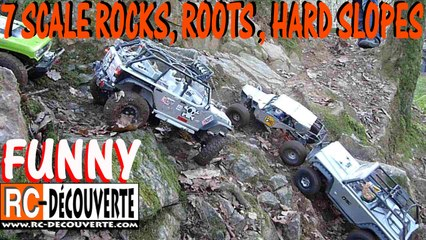 4x4 Franchissement Hilarant : 7 Rc Scale Crawlers Rochers Racines Pentes Pont Caffino France