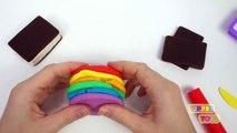 [Play-doh] Play Doh Rainbow Ice Cream Sandwich Play Doh Food Treats