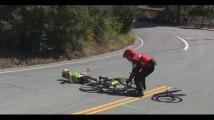 Tour de Californie : Un cycliste KO après une impressionnante chute (vidéo)