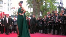 CANNES 2017 Deepika Padukone in a Sexy Thigh High Slit Green Gown Day 2 #LifeAtCannes