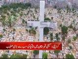 کراچی میں مذہبی ہم آہنگی کی نئی پہچان ۔۔ گورا قبرستان میں ایشیا کی سب سے بڑی 140 فٹ اونچی صلیب دنیا کو ناصرف امن کا پیغام دے رہی ہے بلکہ اقلیتوں کے تحفظ کی مثال بھی بن گئی ہے