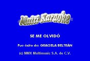Graciela Beltran - Se Me Olvido (Karaoke)
