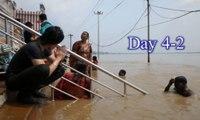 India travel,d4-2,Overseas trip of Japan host.Haridwar,Rishukeshu,Night.Ganga bathing,インド旅行