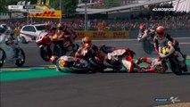 Une chute collective en Moto3 au Grand Prix de France (Le Mans)