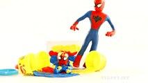Spiderman Batman Joker Hulk Superhero New Episodes! Spidergirl Frozen Elsa Baby Play Doh Stop Motion (4)