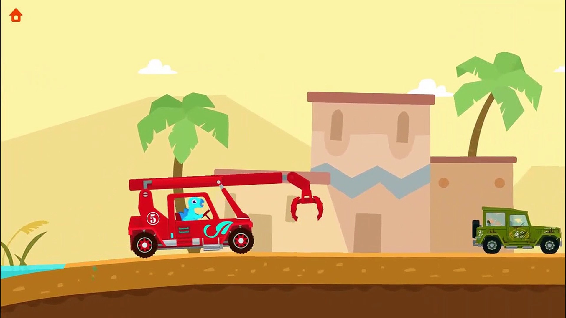 Dinosaur Rescue Tractors - Kids Learn About Rescue Vehicles asd- Education