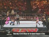 Raw - Beth, Melina and Jillian vs Candice, Maria and Mickie