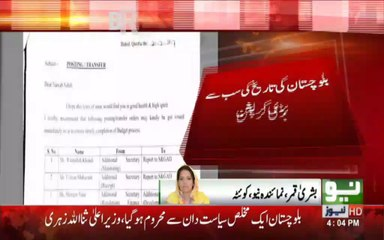 Biggest Corruption Scandal in History of Baluchistan.