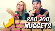 Desafio dos 200 nuggets - Comemorando 200 Mil Inscritos no Youtube