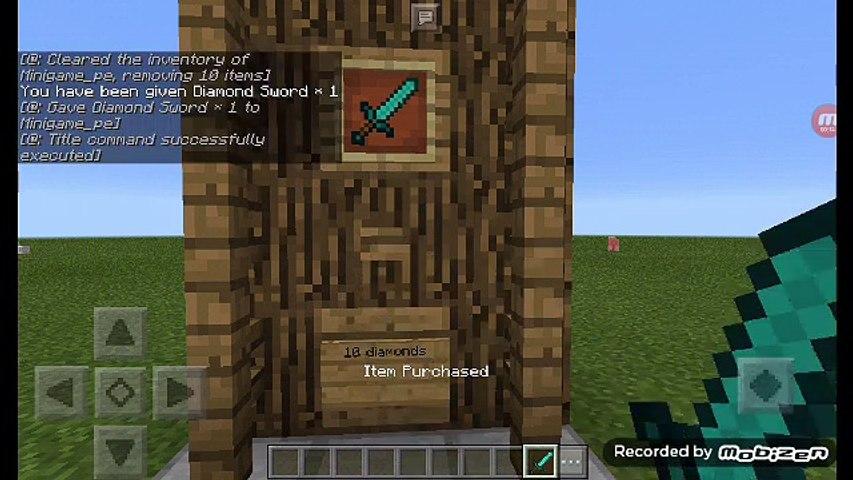 Minecraft Pe: Redstone Tutorial- Small Command Block Shop