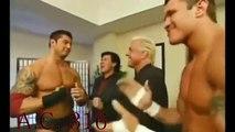 Mark Henry & Teddy Long & Batista & Randy Orton & Ric Flair & Eric Bischoff Backstage Segment WWE Raw December 8th 2003