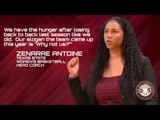 Women's Basketball Media Day: Texas State Head Coach Zenarae Antoine