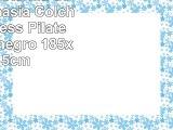 TecTake Esterilla de yoga gimnasia Colchoneta fitness Pilates deporte negro 185x80x15cm