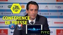 Conférence de presse Paris Saint-Germain - SM Caen (1-1) : Unai EMERY (PARIS) - Patrice GARANDE (SMC) -  Ligue 1 / 2016-17