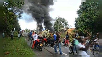 У Колумбії палять шини