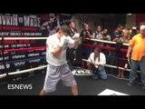 GENNADY GOLOVKIN SLICK SHADOW BOXING AHEAD OF WADE CLASH ON APRIL 23rd - EsNews Boxing