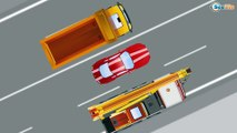 Yellow Truck with JCB Excavator Real Diggers in the City - Cars & Trucks Cartoons for KIDS