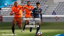 J34 : Paris FC - USCL (2-0), le résumé