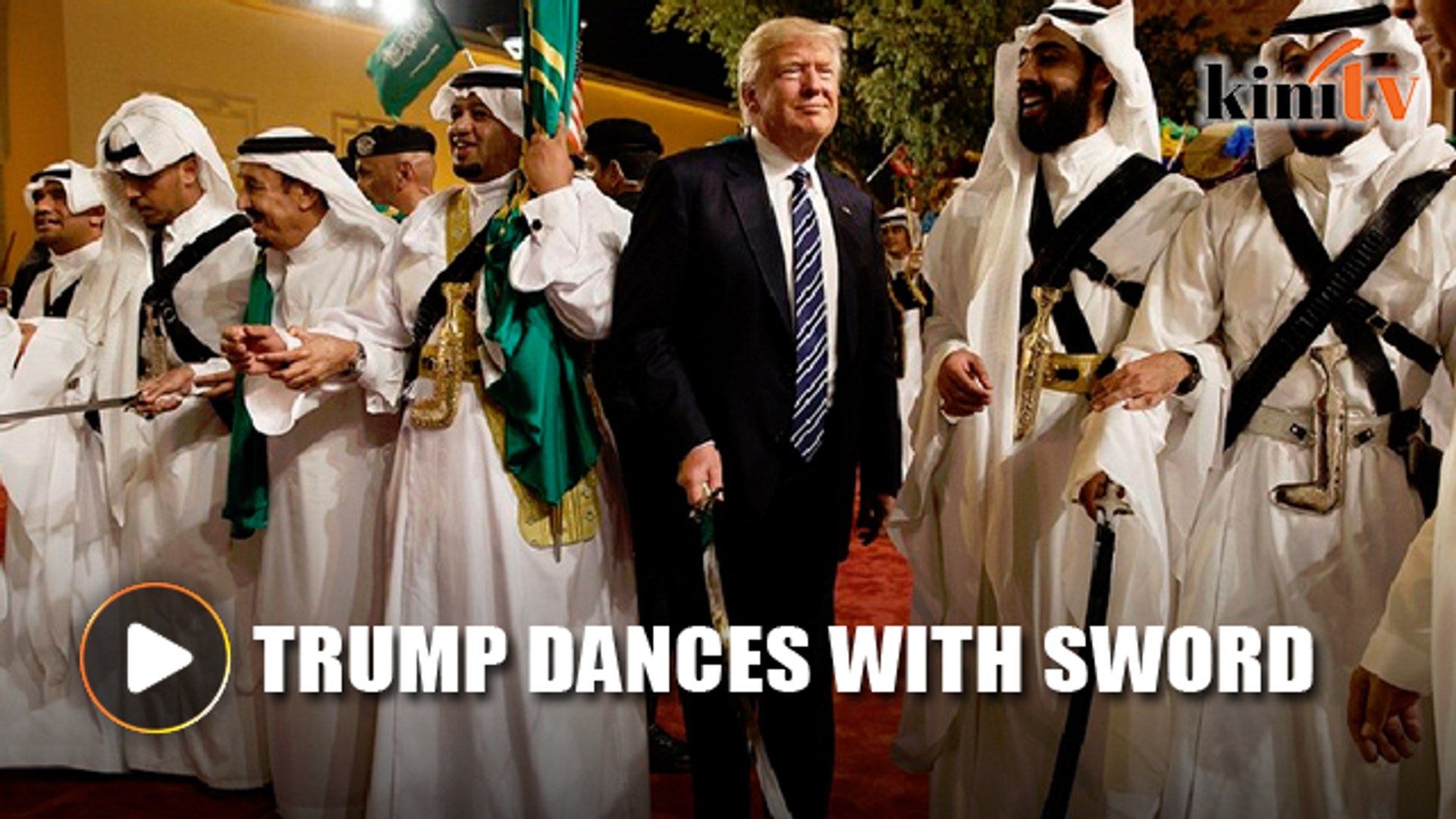 Trump takes part in Saudi 'war dance'