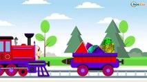 Caricaturas de Trenes - Aprende los Colores y Formas - Dibujos Animados Educativos Para Niños