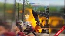 Bağcılar'daki doğalgaz patlaması kamerada