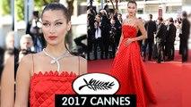 Bella Hadid Rocks Cannes Red Carpet Day 3 At 'Okja' Screening | 2017 Cannes Film Festival