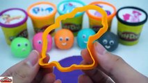 LEARN COLORS with Play Doh Ball Smiley My Little Pony Molds & Video Learning Colors for Children