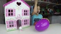 Big Purple Egg Surprises Golden Kinder Surprise Egg Toys HELLO KITTY DOLL HOUSE PLAYSET Frozen Anna-IlpQYv