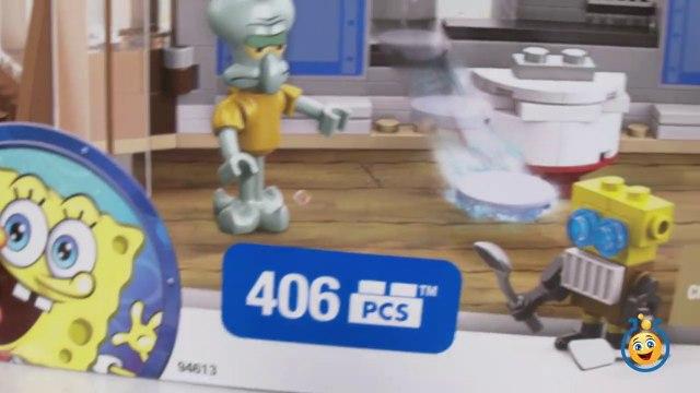 SpongeBob SquarePants Toys Mega Bloks Krusty Krab Attack Playset with Krabby Patty Launcher-I78tne