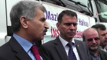 Suriye halkına 4 TIR yardım gönderildi \ 24 02 2015 \ ŞANLIURFA