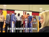 Robert Easter Jr vs Argenis Mendez WEIGH IN & FACE OFF - EsNews Boxing