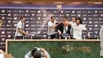 Zinédine Zidane a pris quelques litres de champagne en pleine conférence de presse de fin de match !