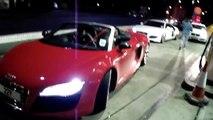 SUPERCAR CONVOY   REV BATTLE AUDI R8 V8, AUDI R8 V10, LAMBORGHINI GALLARDO LP