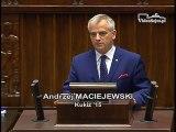 Poseł Andrzej Maciejewski - Wystąpienie z dnia 10 maja 2017 roku.