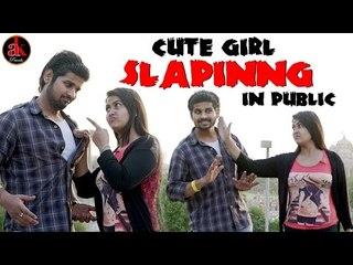 Cute Girl Slapinng In Public By AK Pranks || Viral Video 2017 || A Social Experiment