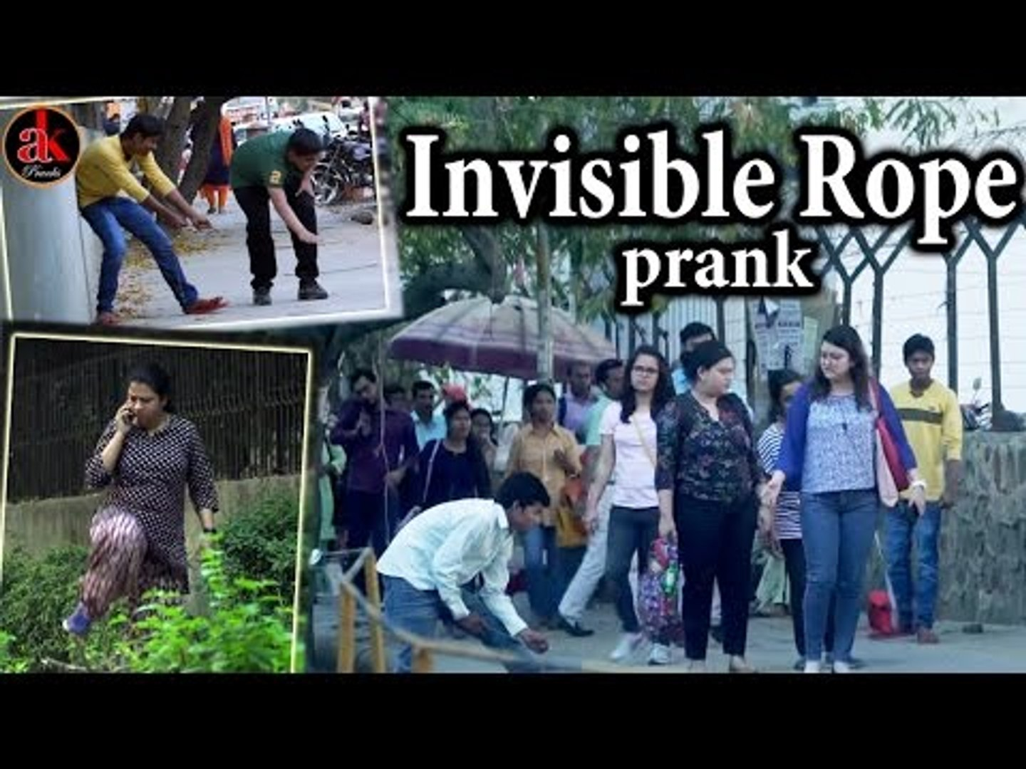 Funny Pranks - Invisible Rope Prank || Prank In India || Prank 2017 || Viral Invisible Ak Pranks