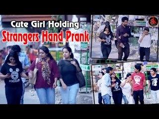 Cute Girl Holding Strangers Hand Prank - Most Funny Prank In World || Ak Pranks Viral Video 2017