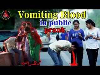 VOMITING PRANK ON PEOPLE (GONE WRONG) | PRANKS IN INDIA 2017 | Ak Pranks